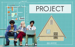 Collaboration Job Concept d'évaluation de stratégie de plan de projet photographie stock libre de droits