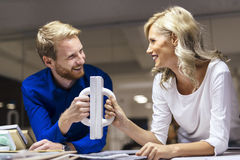 Collaboration leads to success. Collaboration and determination leads to success Royalty Free Stock Photo