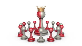Collaboration (Power and hypocrisy) . Chess metaphor stock video footage
