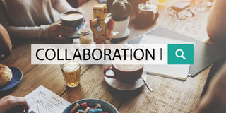 Collaboration Solution Partnership Cooperation Concept Stock Image