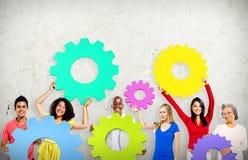 Collaboration Team Concept d'entreprise de connexion de vitesse Image stock