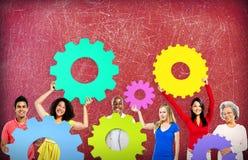 Collaboration Team Concept d'entreprise de connexion de vitesse Photo libre de droits