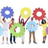Collaboration Team Concept d'entreprise de connexion de vitesse Photos stock