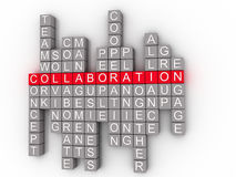 Collaboration Word Cloud Concept on a 3D Stock Images