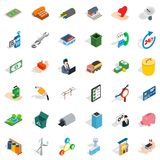 Collaborative business icons set, isometric style. Collaborative business icons set. Isometric set of 36 collaborative business vector icons for web isolated on Stock Photography