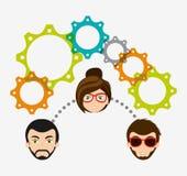 Collaborative concept design Stock Image