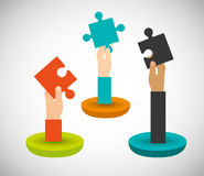 Collaborative concept design Royalty Free Stock Image