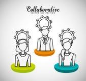 Collaborative concept design Royalty Free Stock Photos