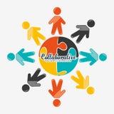 Collaborative concept design Royalty Free Stock Photo