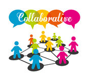 Collaborative concept design Royalty Free Stock Images
