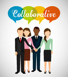 Collaborative concept design Royalty Free Stock Photography