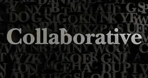Collaborative - 3D rendered metallic typeset headline illustration Royalty Free Stock Photography