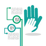 Collaborative hands design Royalty Free Stock Image