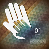 Collaborative hands design Royalty Free Stock Photos