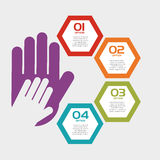 Collaborative hands design Royalty Free Stock Images
