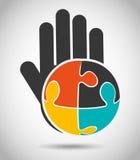 Collaborative hands design Stock Image