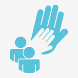 Collaborative hands design Stock Images