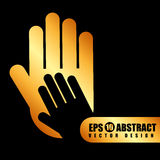 Collaborative hands design Stock Photography
