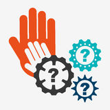 Collaborative hands design Royalty Free Stock Photography