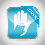 Collaborative hands design Stock Photos