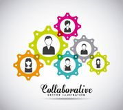 Collaborative people design Stock Image