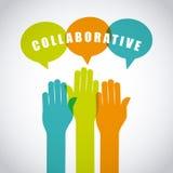 Collaborative teamwork design Stock Photography