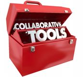 Collaborative Tools Toolbox Stock Photography