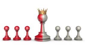 Collaboratori (metafora di scacchi) illustrazione di stock