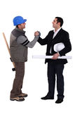 Collaborators handshaking Royalty Free Stock Images