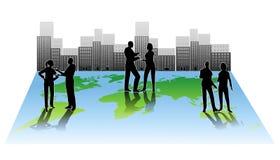 Collaborazione globale della gente di città Immagine Stock Libera da Diritti