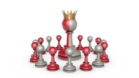 Collaborazione (potere ed ipocrisia) Metafora di scacchi illustrazione vettoriale