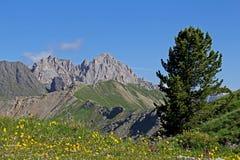 Collac peak and Pass of San Nicolò Stock Photo