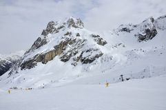 Collac slopes in winter, dolomites Stock Photography