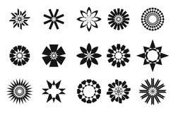 Collaction réglé d'étoile abstraite Image stock