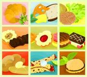Collage 03 del alimento Imagenes de archivo