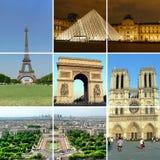 Collage 1 de París Fotografía de archivo