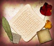 Collage 1 della tela di canapa Fotografia Stock