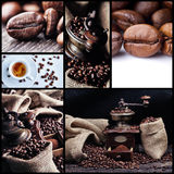 Collage 1 van de koffie Stock Afbeelding