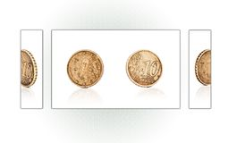 Collage of a 10 euro cent coin Stock Photos
