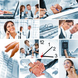 Collage. Business theme photo collage composed of few images Royalty Free Stock Photos