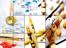 Collage 2 de las píldoras fotos de archivo