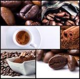 Collage 2 van de koffie stock afbeeldingen