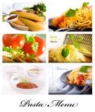 Collage 2 van deegwaren Stock Afbeeldingen