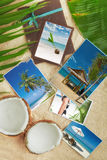 Collage. Tropic beach theme collage composed of few photos Royalty Free Stock Photo
