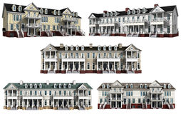 Collage with 3d models of multistory condominiums Royalty Free Stock Photo