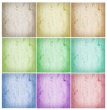 Collage of abstract backgrounds. Collage of abstract multicolored backgrounds royalty free stock photo