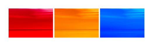Collage of abstract blurred horizon Royalty Free Stock Image