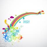 Collage abstracto del arco iris Imagen de archivo libre de regalías