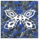 Collage abstracto del fondo de pedazos del papel con la imagen de una mariposa Diseño de impresiones, paquetes, modelos, envoltur fotos de archivo libres de regalías