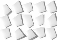 Collage abstrait des feuilles de papier sur un fond blanc illustration libre de droits
